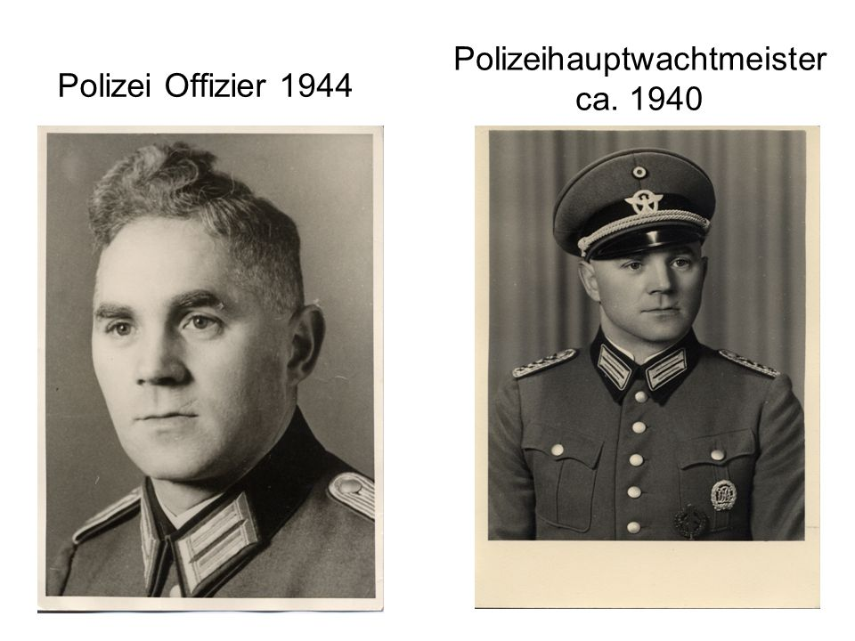 Polizei Offizier 1944 Polizeihauptwachtmeister ca. 1940