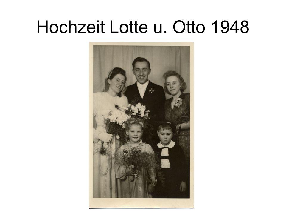 Hochzeit Lotte u. Otto 1948