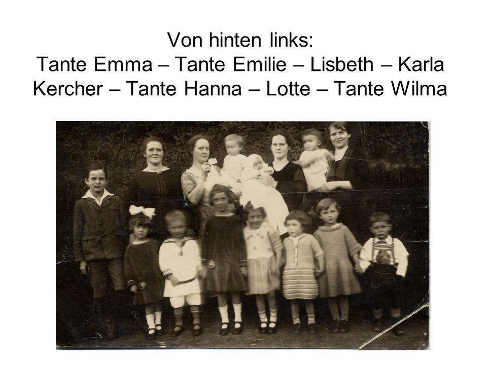 Wilma u. Gretel Rolf u. Tante Trudel in Backnang Hans u. Rolf