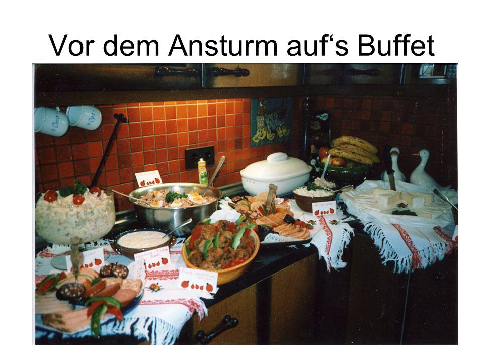 Vor dem Ansturm auf's Buffet