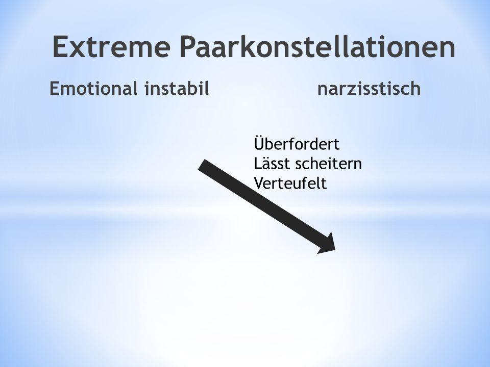 Emotional instabil narzisstisch Extreme Paarkonstellationen Überfordert Lässt scheitern Verteufelt