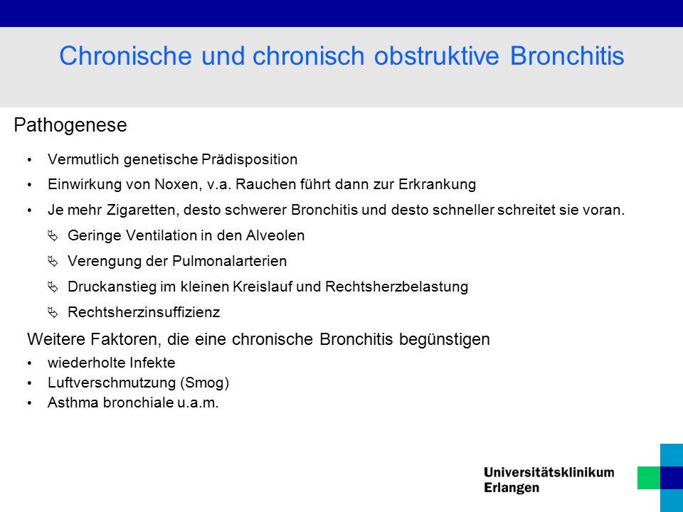 Pathogenese Vermutlich genetische Prädisposition Einwirkung von Noxen, v.a.