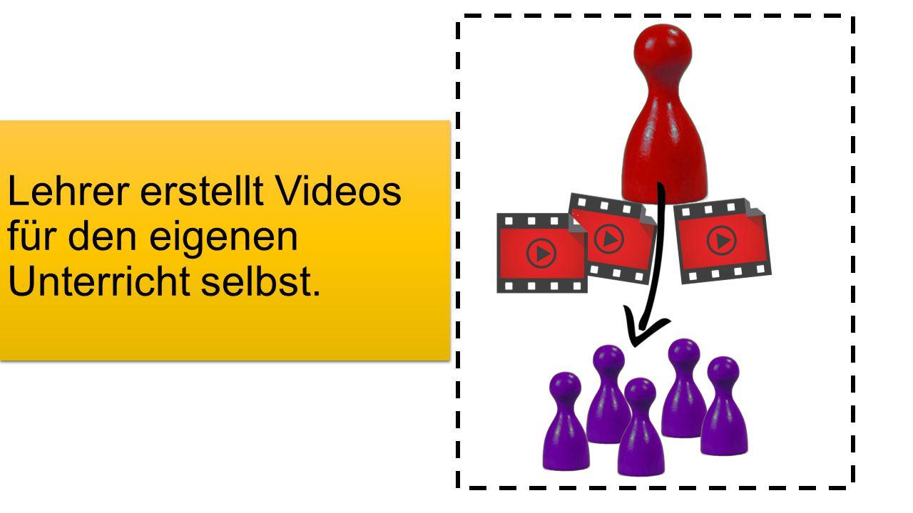 Lehrer erstellt Videos für den eigenen Unterricht selbst.