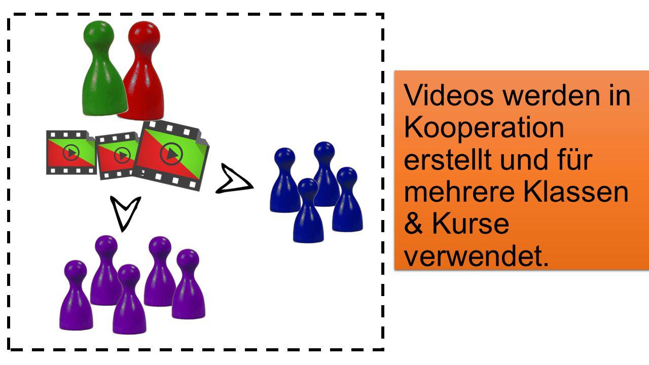 Im Unterricht werden eigene als auch fremde Videos eingesetzt.