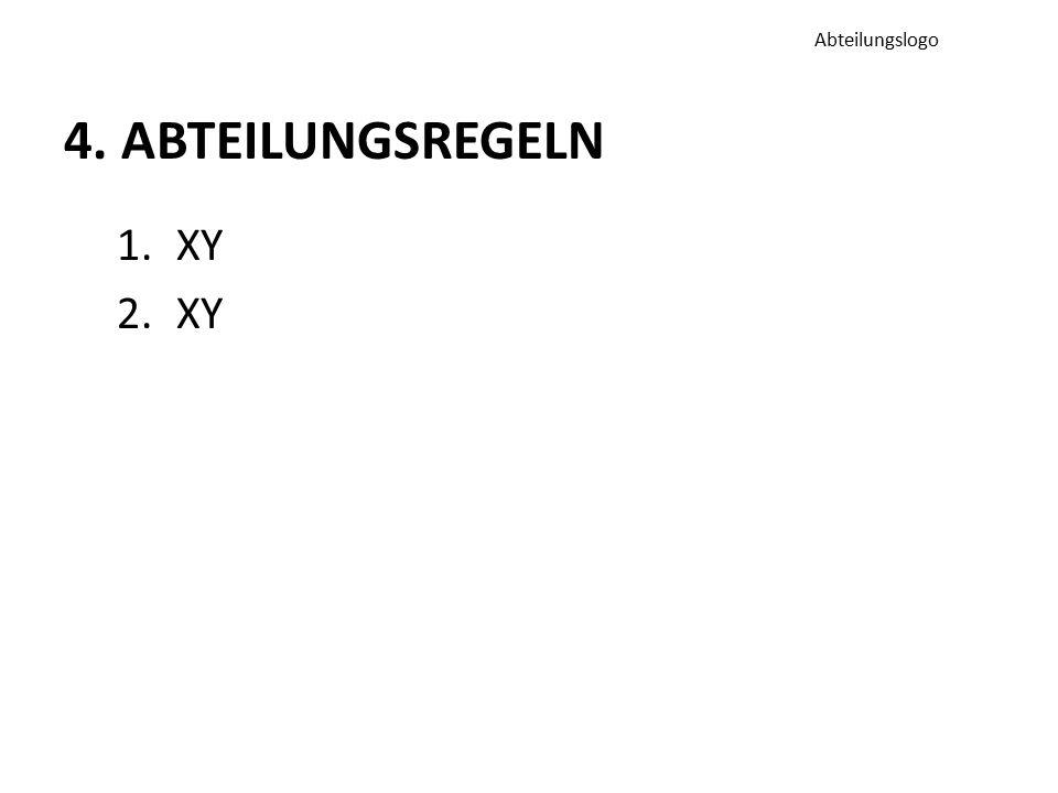 4. ABTEILUNGSREGELN 1.XY 2.XY Abteilungslogo