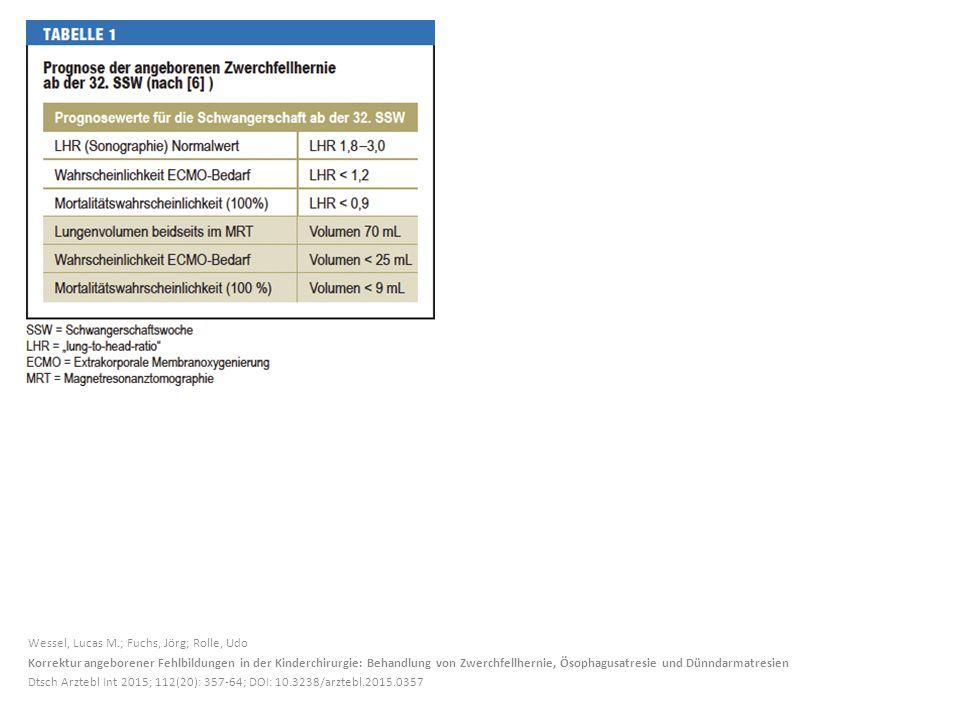 Wessel, Lucas M.; Fuchs, Jörg; Rolle, Udo Korrektur angeborener Fehlbildungen in der Kinderchirurgie: Behandlung von Zwerchfellhernie, Ösophagusatresi