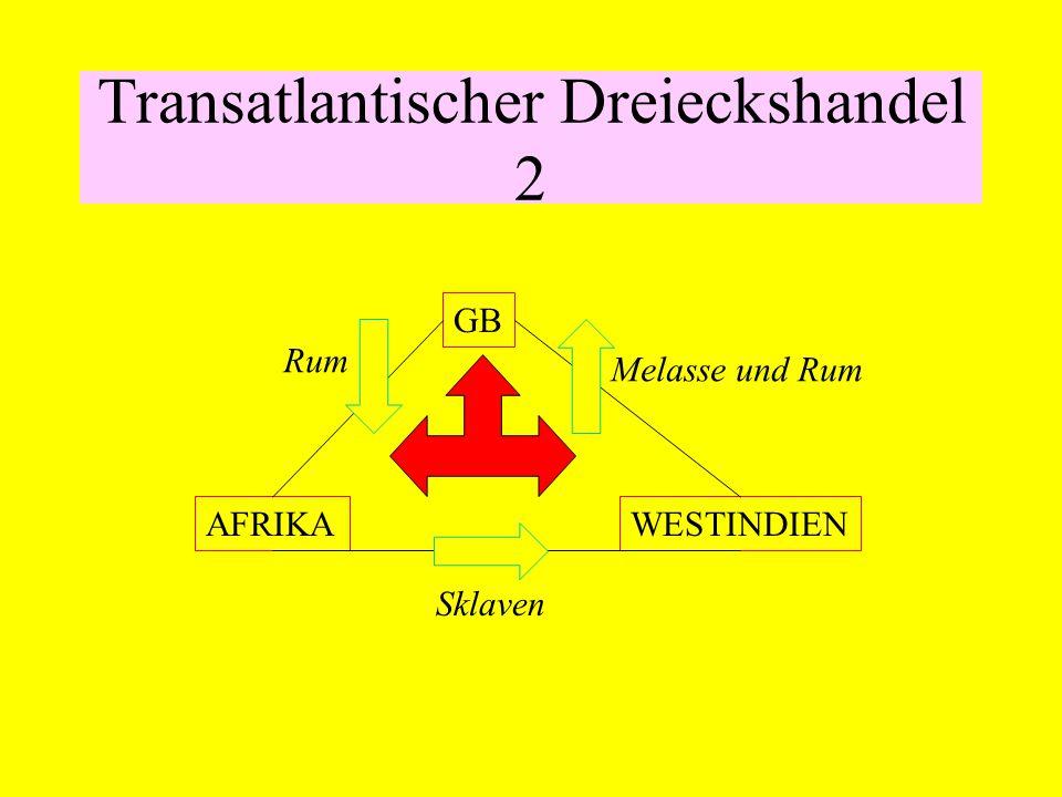 Transatlantischer Dreieckshandel 2 GB AFRIKAWESTINDIEN Rum Melasse und Rum Sklaven