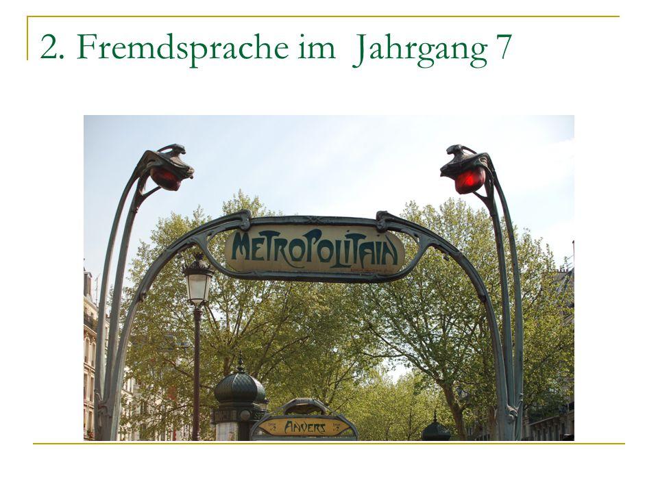 2. Fremdsprache im Jahrgang 7