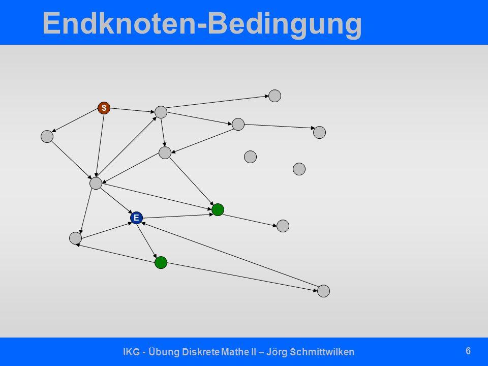 IKG - Übung Diskrete Mathe II – Jörg Schmittwilken 6 Endknoten-Bedingung S E