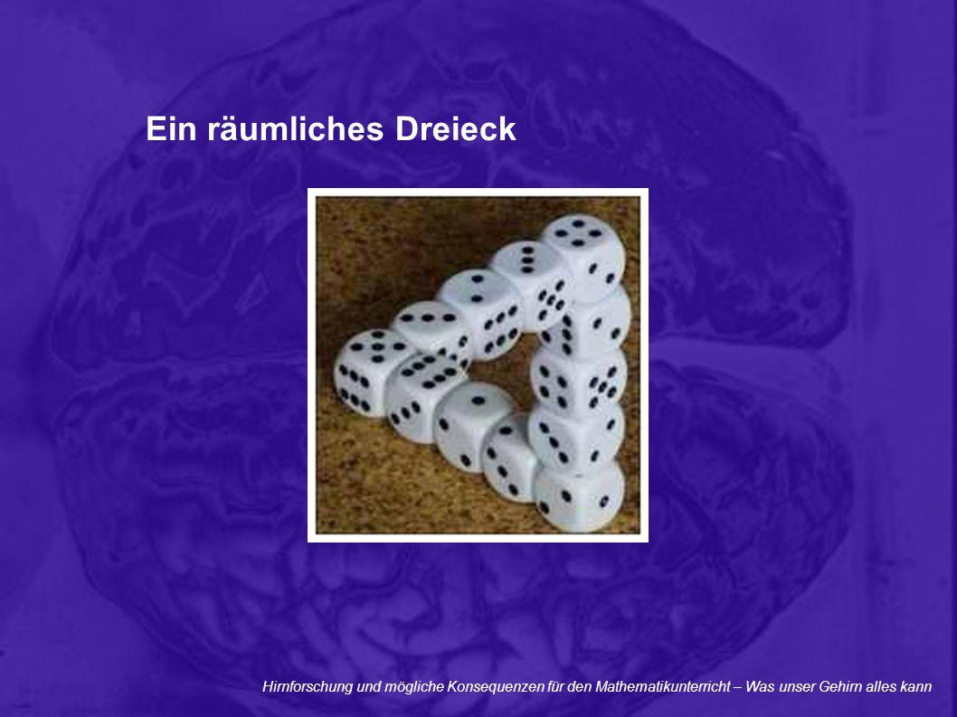 Hirnforschung und mögliche Konsequenzen für den Mathematikunterricht – Was unser Gehirn alles kann Ein räumliches Dreieck