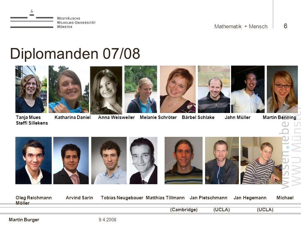Martin Burger Mathematik + Mensch 37 9.4.2008 Dekan-Cartoon Iterierte EM-TV Rekonstruktion Christoph Brune