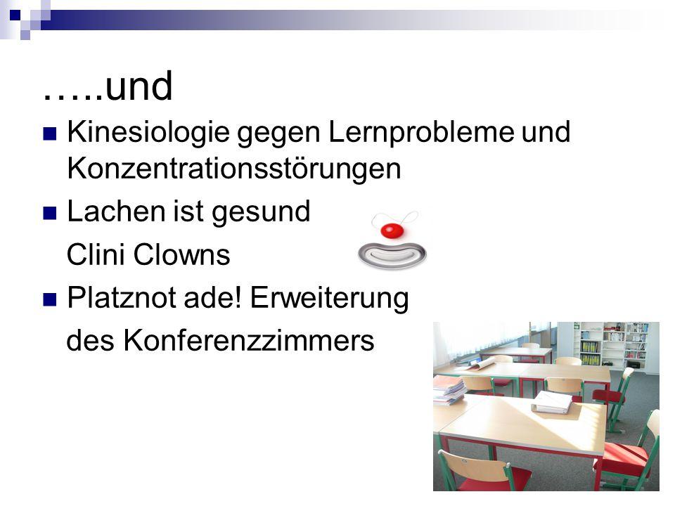…..und Kinesiologie gegen Lernprobleme und Konzentrationsstörungen Lachen ist gesund Clini Clowns Platznot ade.