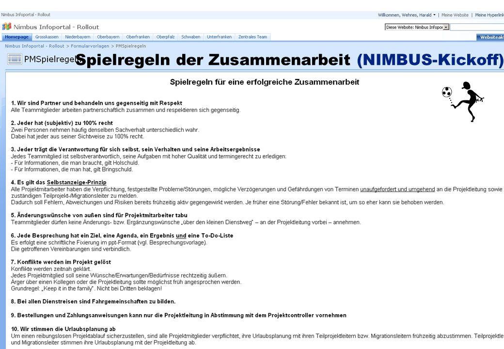 Professionelles Projektmanagement in der Praxis, © 2008 Dr. Harald Wehnes Universität Würzburg, FB Informatik, Prof. Dr. P.Tran-Gia 47 Spielregeln der