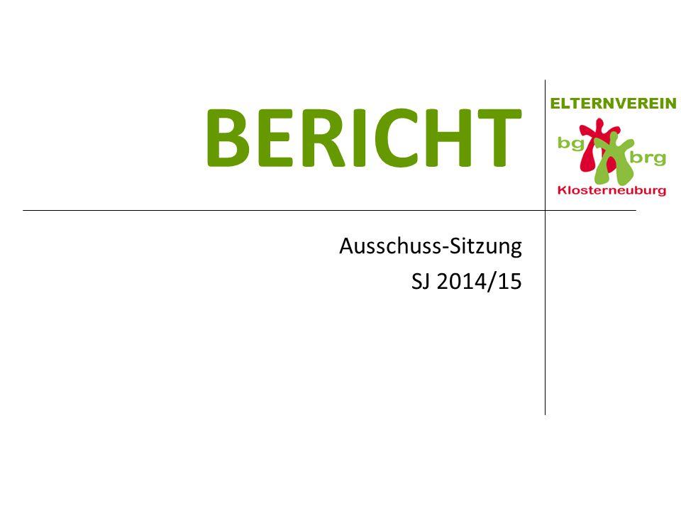 ELTERNVEREIN BERICHT Ausschuss-Sitzung SJ 2014/15