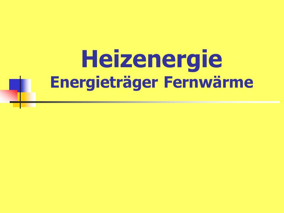 Heizenergie Energieträger Fernwärme