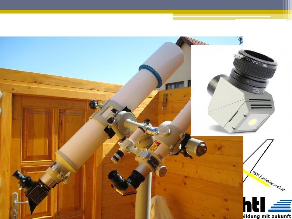 Sonnenbeobachtung Niemals ohne geeigneten Schutz direkt in die Sonne blicken!!! Filterfolie (Sonnenfinsternisbrillen): lässt 0,001% des Sonnenlichtes