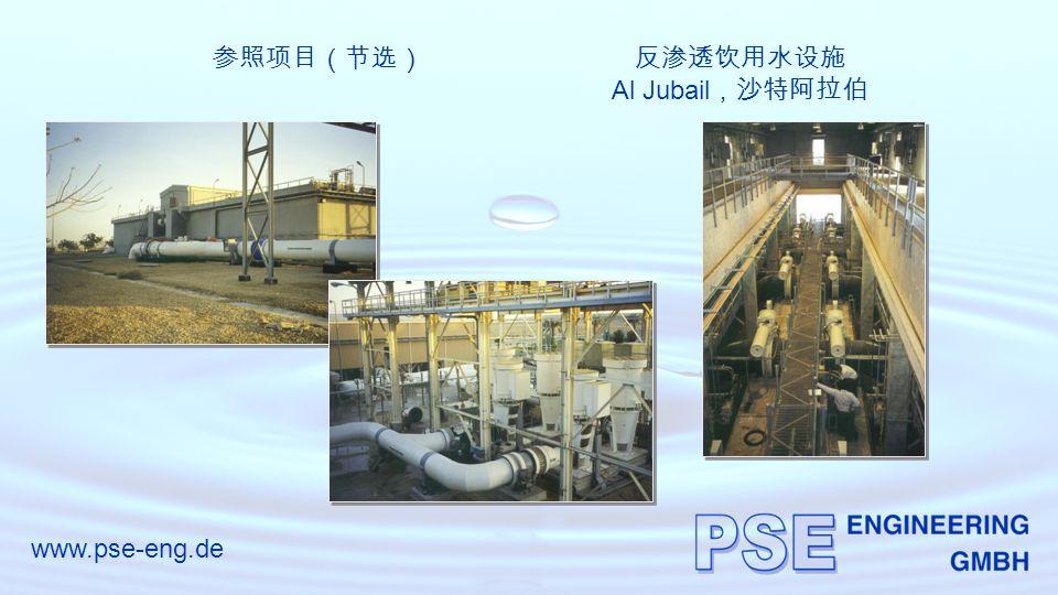 www.pse-eng.de 参照项目(节选)反渗透饮用水设施 Al Jubail ,沙特阿拉伯