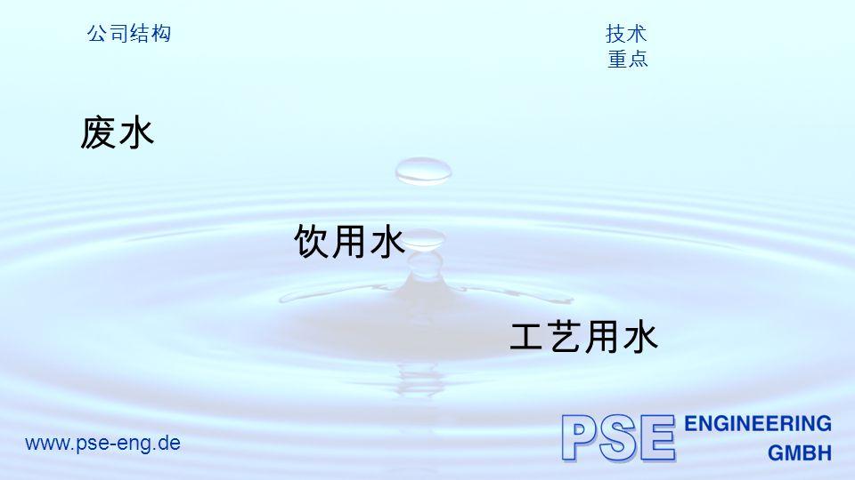 www.pse-eng.de 公司结构 技术 重点 废水 饮用水 工艺用水