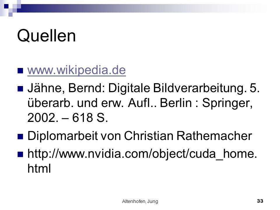 Altenhofen, Jung33 Quellen www.wikipedia.de Jähne, Bernd: Digitale Bildverarbeitung. 5. überarb. und erw. Aufl.. Berlin : Springer, 2002. – 618 S. Dip