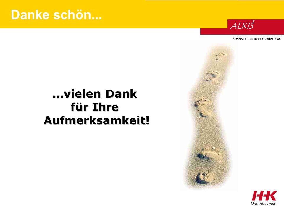 © HHK Datentechnik GmbH 2005 ALKIS ®...vielen Dank für Ihre Aufmerksamkeit! Danke schön...