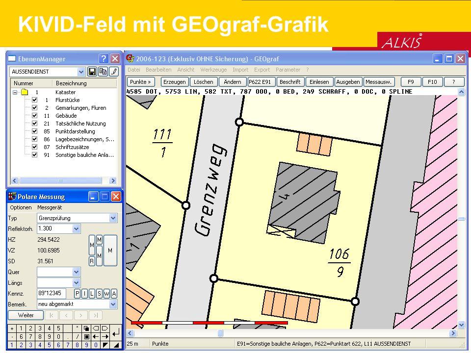 © HHK Datentechnik GmbH 2005 ALKIS ® KIVID-Feld mit GEOgraf-Grafik