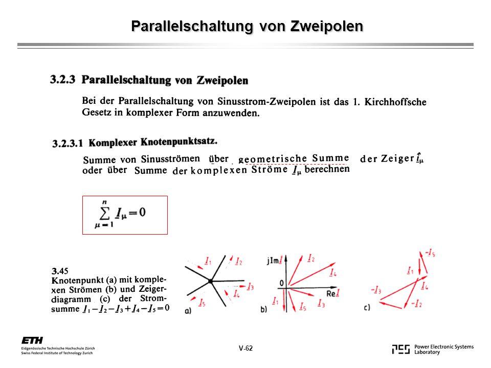 Parallelschaltung von Zweipolen V-62