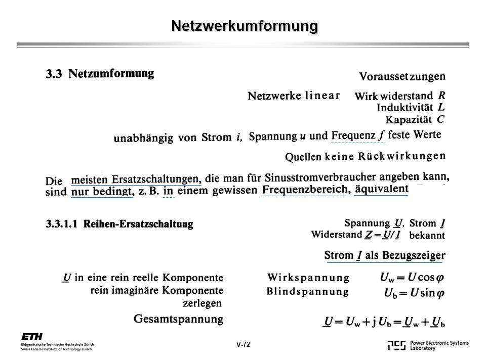 Netzwerkumformung V-72