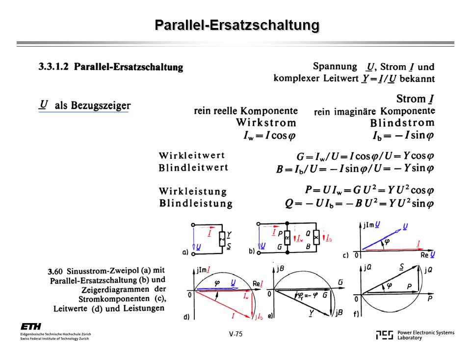 Parallel-Ersatzschaltung V-75