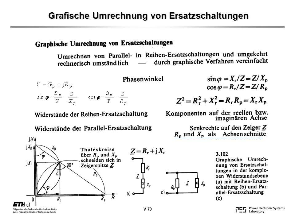 Grafische Umrechnung von Ersatzschaltungen V-79