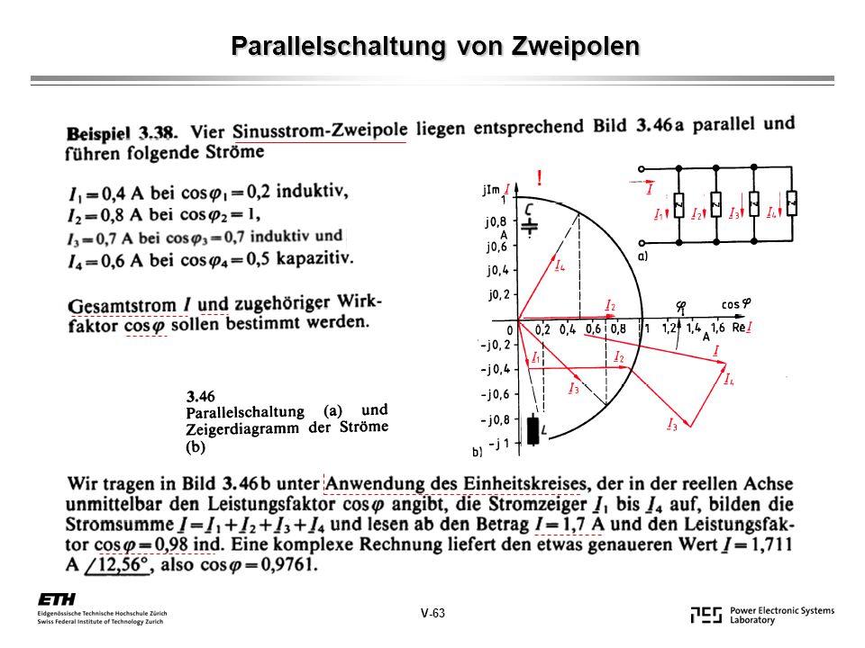 Parallelschaltung von Zweipolen V-63 !