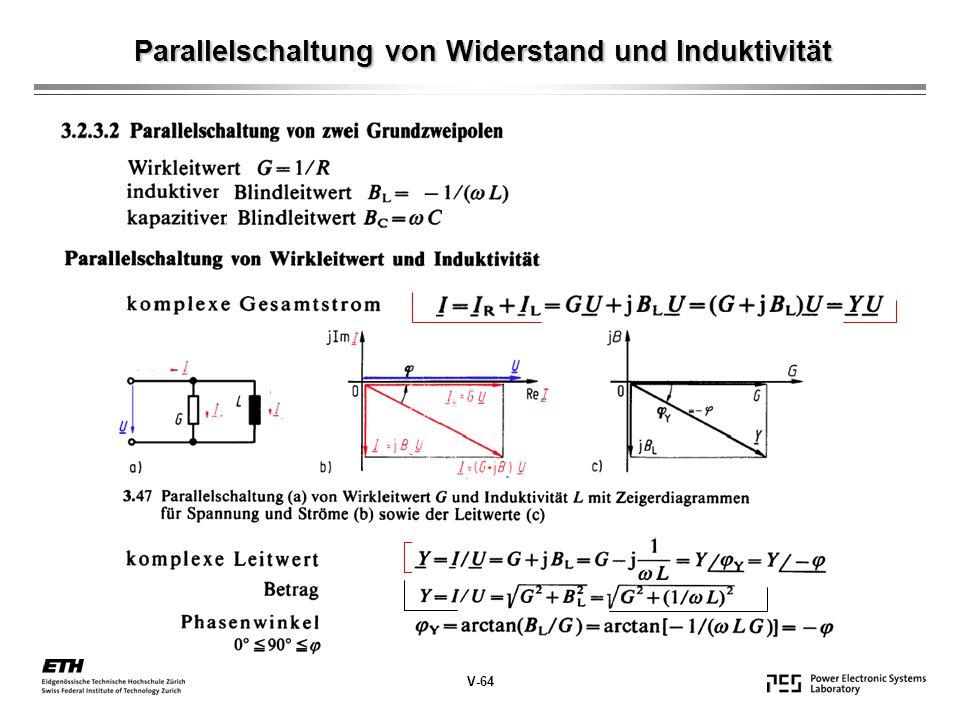 Parallelschaltung von Widerstand und Induktivität V-64