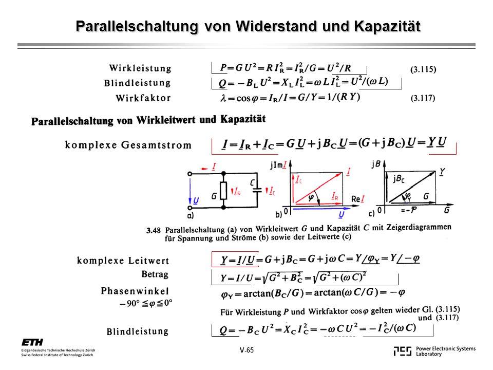 Parallelschaltung von Widerstand und Kapazität V-65