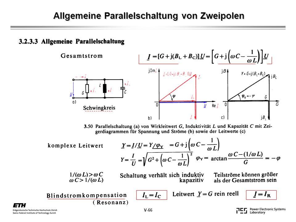 Allgemeine Parallelschaltung von Zweipolen V-66 ( )