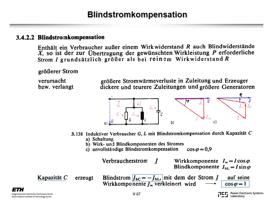 Blindstromkompensation V-67