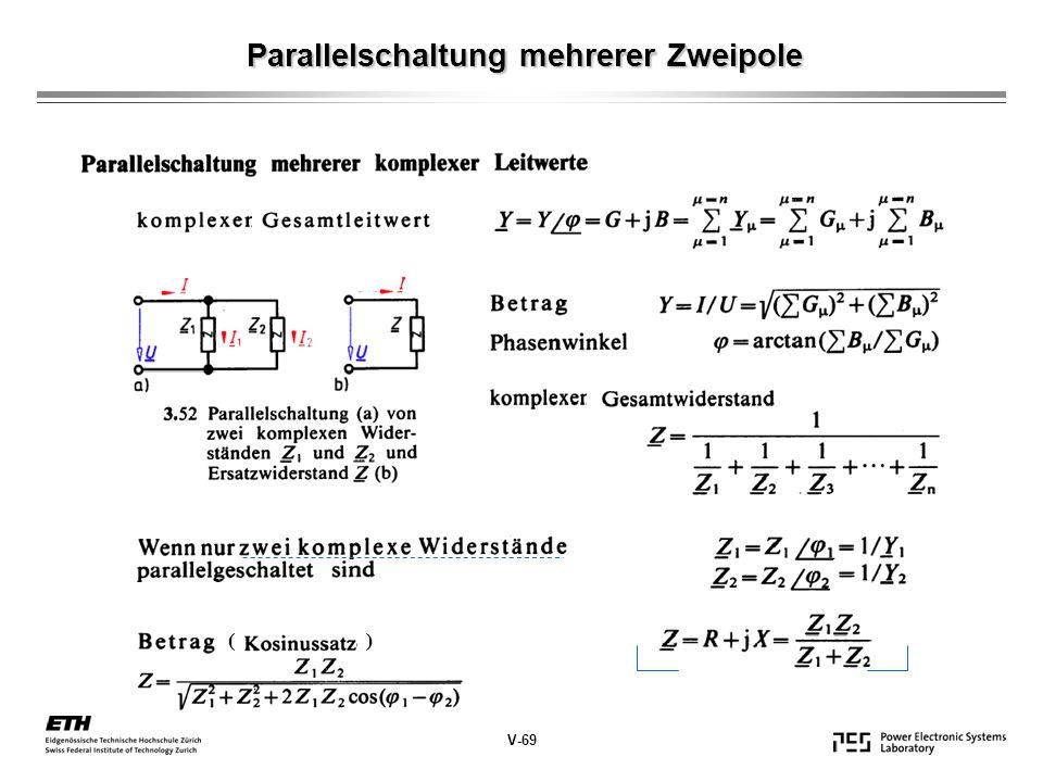 Parallelschaltung mehrerer Zweipole V-69 ( )