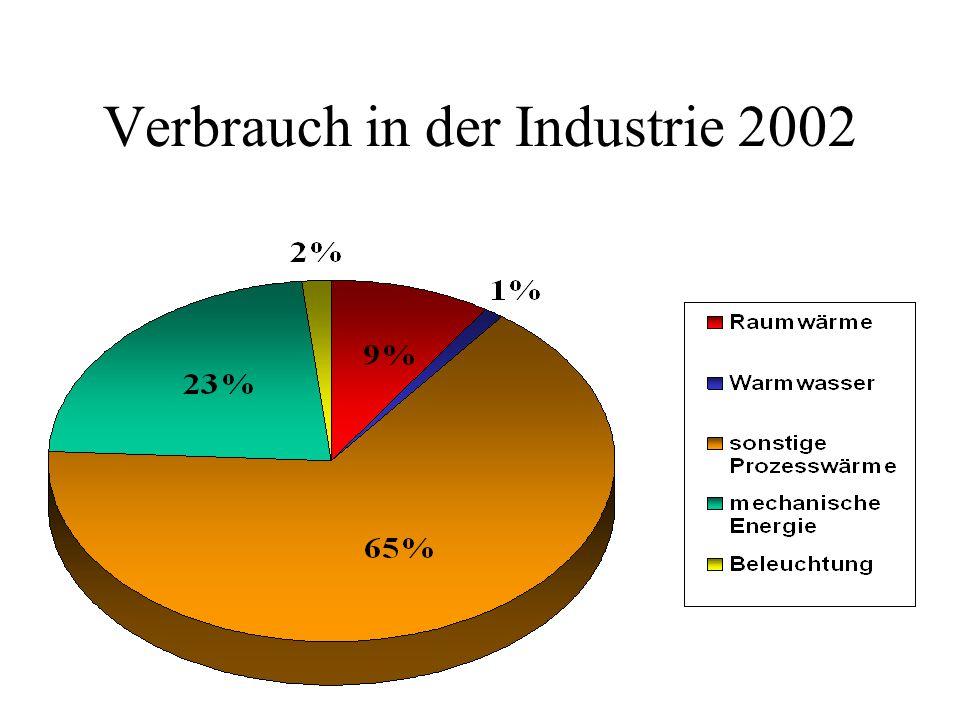 Verbrauch in der Industrie 2002