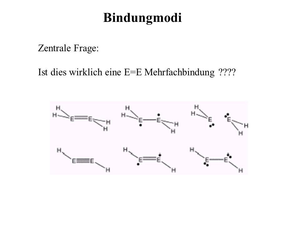 Bindungmodi Zentrale Frage: Ist dies wirklich eine E=E Mehrfachbindung