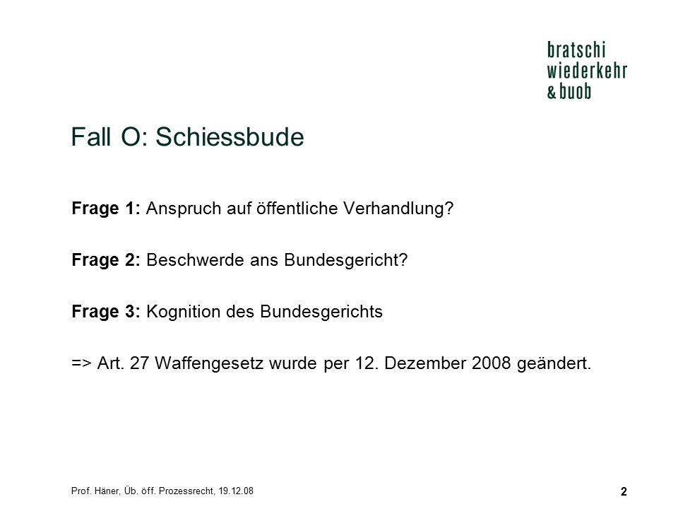 Prof.Häner, Üb. öff. Prozessrecht, 19.12.08 13 AFFAIRE DAMMANN C.