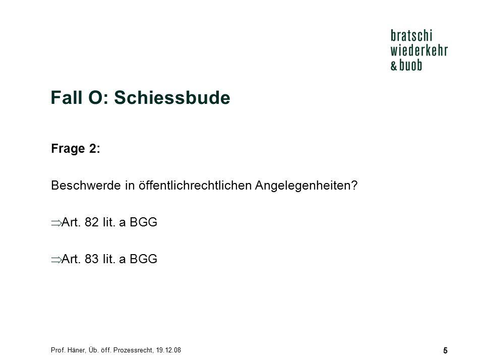 Prof.Häner, Üb. öff. Prozessrecht, 19.12.08 6 Voraussetzungen für die Waffentragbewilligung 1.