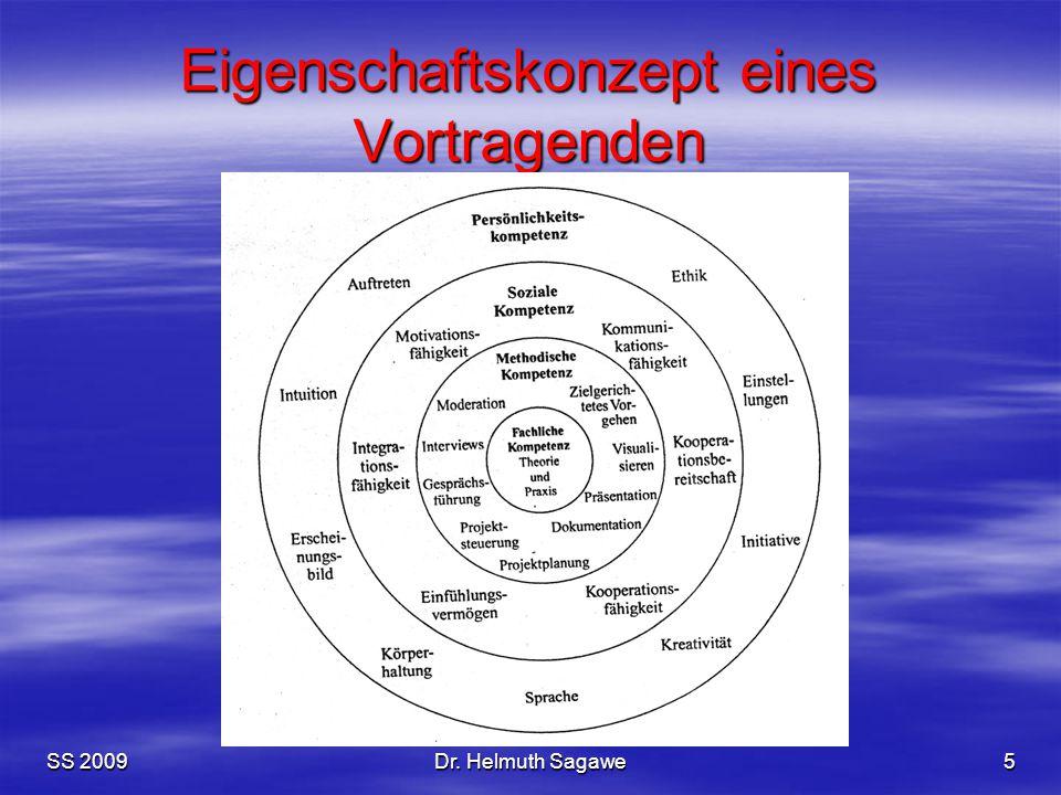 SS 2009Dr. Helmuth Sagawe5 Eigenschaftskonzept eines Vortragenden