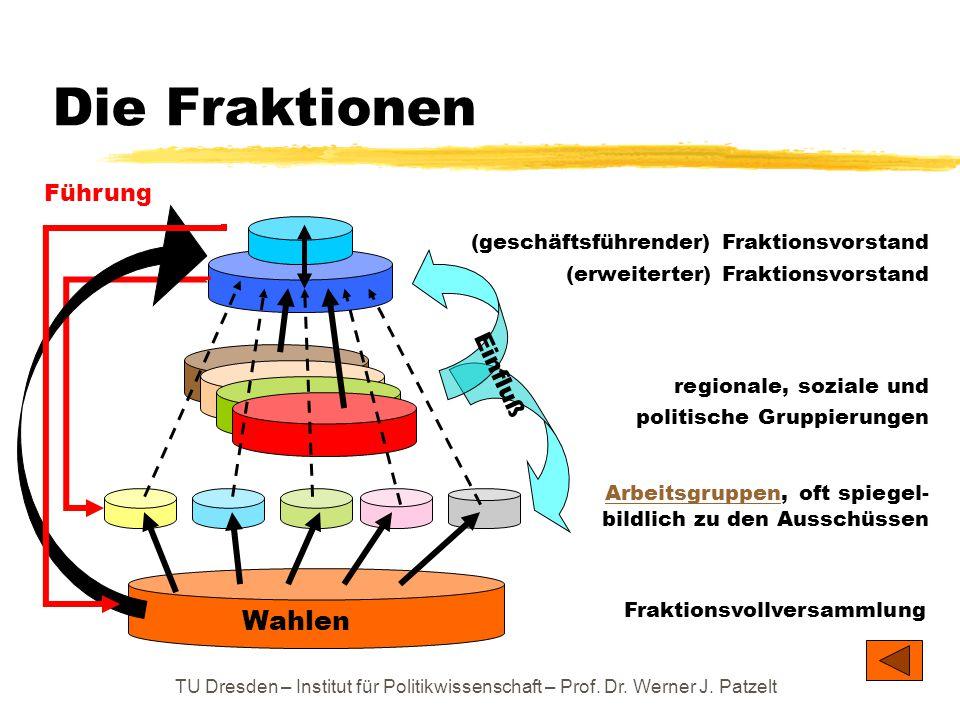 TU Dresden – Institut für Politikwissenschaft – Prof. Dr. Werner J. Patzelt ArbeitsgruppenArbeitsgruppen, oft spiegel- bildlich zu den Ausschüssen Die