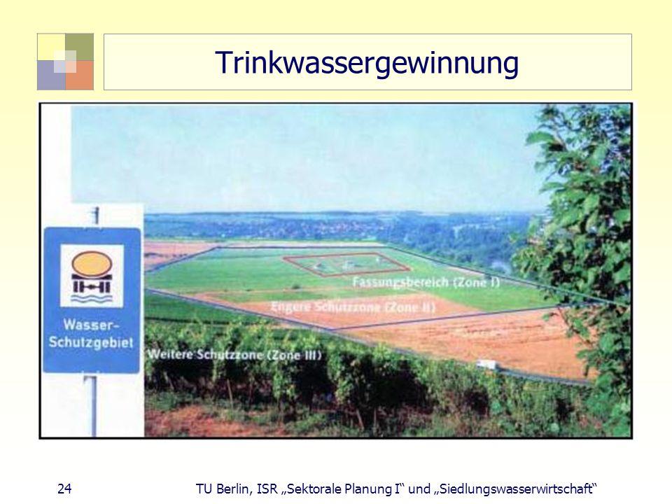 """24 TU Berlin, ISR """"Sektorale Planung I und """"Siedlungswasserwirtschaft Trinkwassergewinnung"""