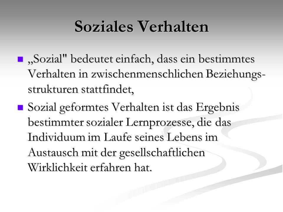 """Soziales Verhalten """"Sozial"""