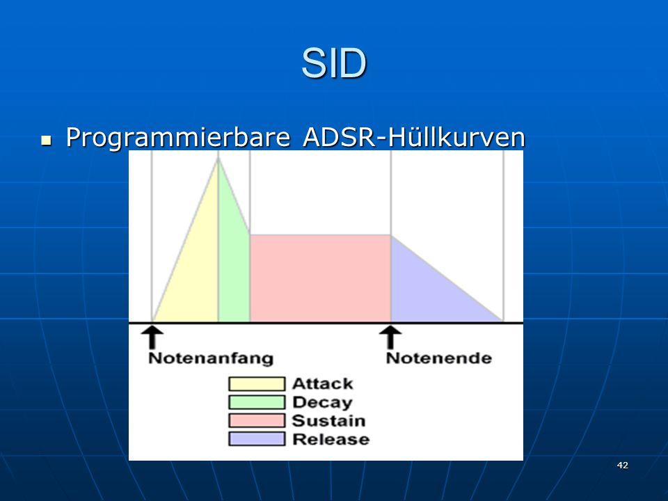 42 SID Programmierbare ADSR-Hüllkurven Programmierbare ADSR-Hüllkurven