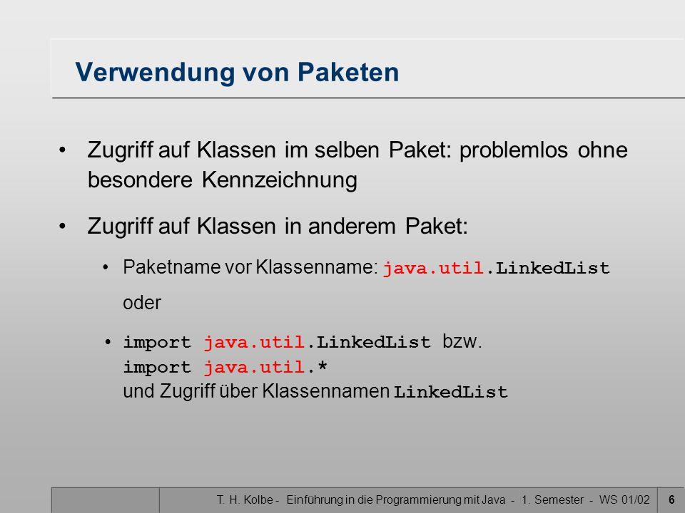 T. H. Kolbe - Einführung in die Programmierung mit Java - 1.