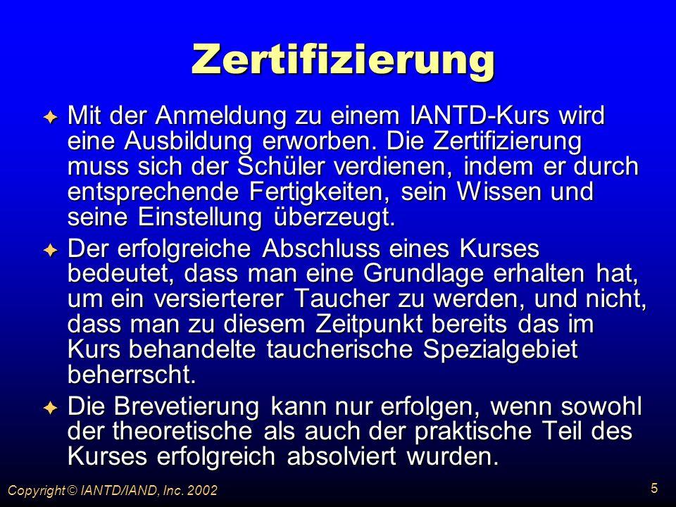 315 Copyright © IANTD/IAND, Inc.2002 Psychologie Psychologie Was bewirkt richtige Atmung.