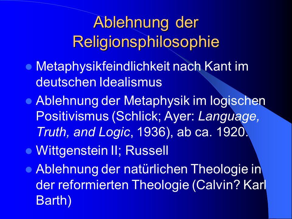 Zwei Sinne von Religionsphilosophie (cont) – 2.