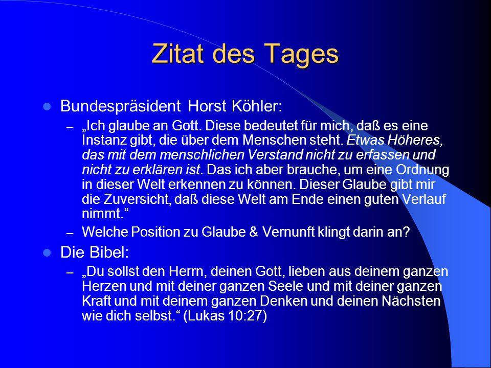 Proseminar: Glaube und Vernunft 19. April 2005 Daniel von Wachter http://daniel.von-wachter.de