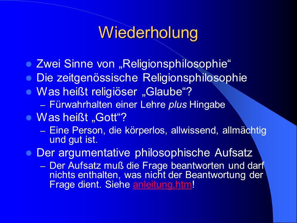 "Zitat des Tages Bundespräsident Horst Köhler: – ""Ich glaube an Gott."