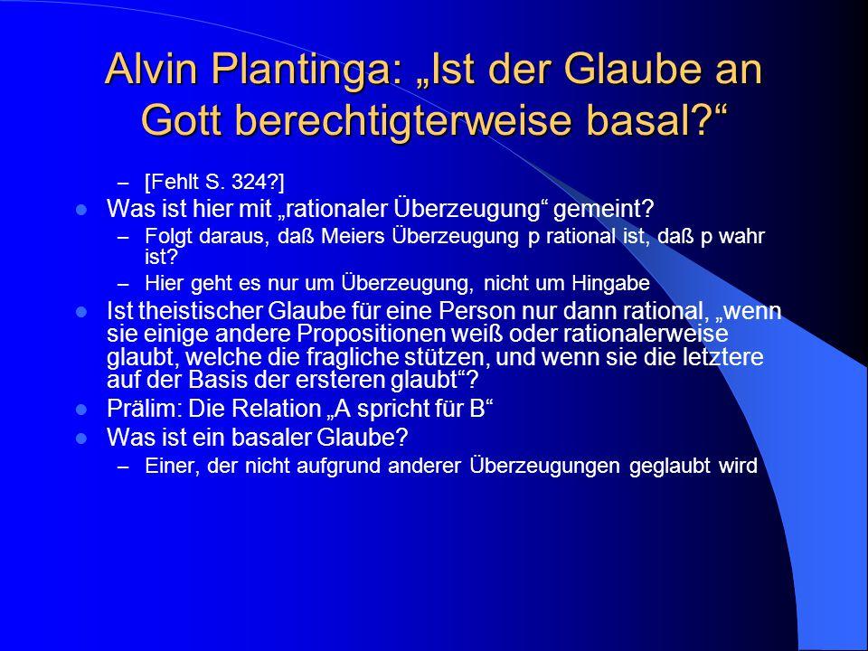 """Wiederholung Zwei Sinne von """"Religionsphilosophie Die zeitgenössische Religionsphilosophie Was heißt religiöser """"Glaube ."""